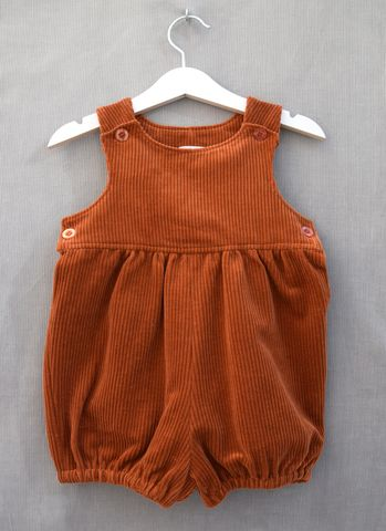 Taylor,corduroy,baby/toddler,rompers,(copper),copper, autumn fashion, winter fashion, romper suit, rompers, bubble rompers, bloomers, toddler fashion, baby fashion, trendy, corduroy, playsuit