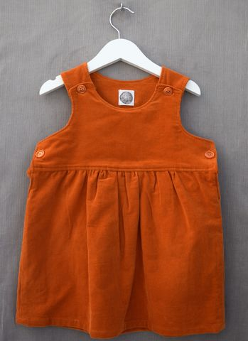 Casey,corduroy,baby/toddler,pinafore,dress,(orange),orange, needlecord, pinafore dress, toddler, children's fashion, baby, trendy, winter clothes, autumn clothes, handmade, unique,