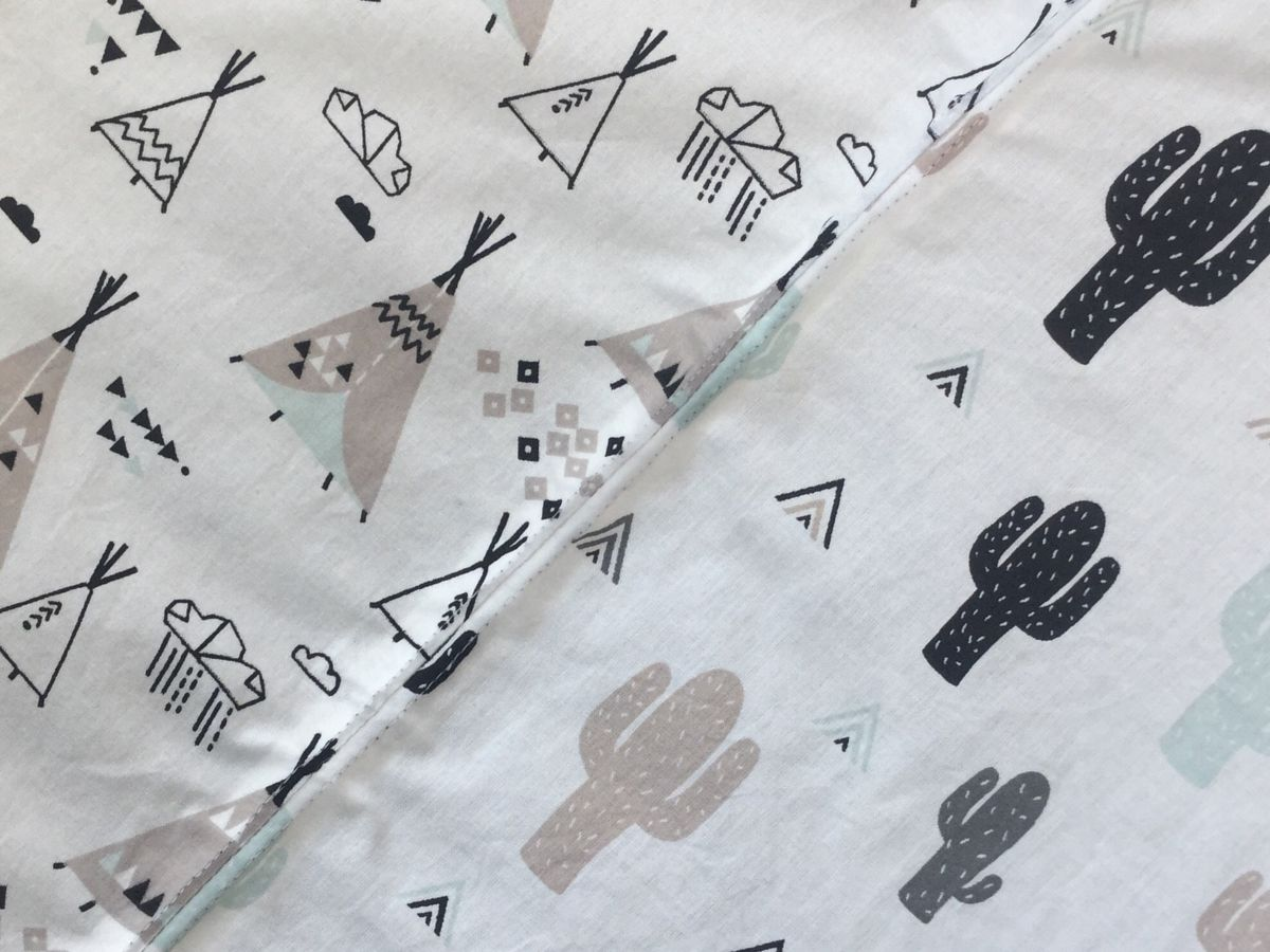 Contemporary baby/toddler play mat (monochrome/mint/grey) - product images  of