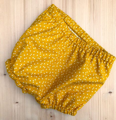 Bubble,leg,baby/toddler,bloomers,-,bow,print,(mustard),Bubble leg bloomers, bloomers, toddler bloomers, monochrome, trendy baby, vintage style baby