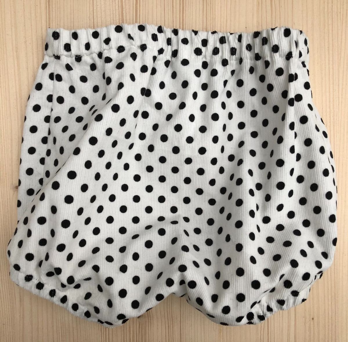 Corduroy bubble leg baby/toddler bloomers - White/Black spots - product images  of
