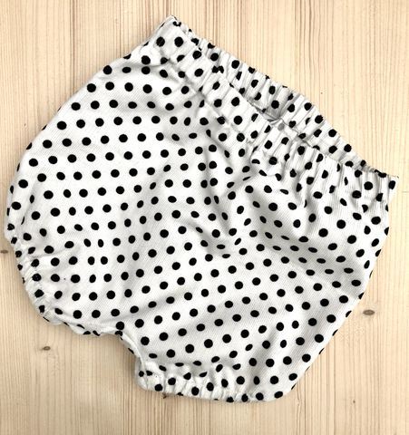 Corduroy,bubble,leg,baby/toddler,bloomers,-,White/Black,spots,Bubble leg bloomers, bloomers, toddler bloomers, monochrome, trendy baby, vintage style baby