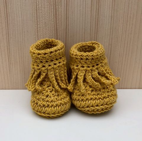 Baby,moccasin,style,bootee/shoes,(mustard),Baby bootee, baby shoe, baby moccasins, baby wool bootee, baby shower gift, newborn, baby, gift