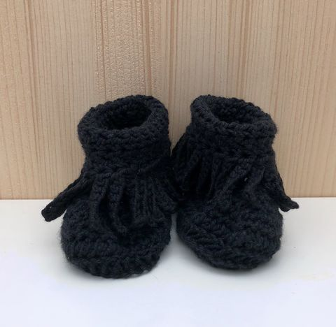 Baby,moccasin,style,bootie/shoes,(black),Baby bootie, baby shoe, baby moccasins, baby wool bootie, baby shower gift, newborn, baby, gift