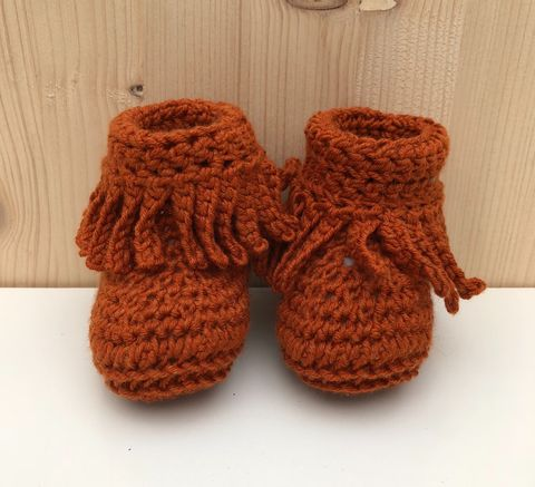 Baby,moccasin,style,bootie/shoes,(copper),Baby bootie, baby shoe, baby moccasins, baby wool bootie, baby shower gift, newborn, baby, gift