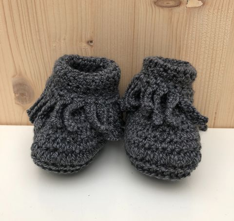 Baby,moccasin,style,bootie/shoes,(dark,grey),Baby bootie, baby shoe, baby moccasins, baby wool bootie, baby shower gift, newborn, baby, gift