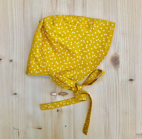 Baby,,toddler,bonnet,-,mustard,and,off,white,Baby bonnet, toddler bonnet, baby hat, toddler hat, sunhat, mustard, off white, trendy baby, vintage style baby