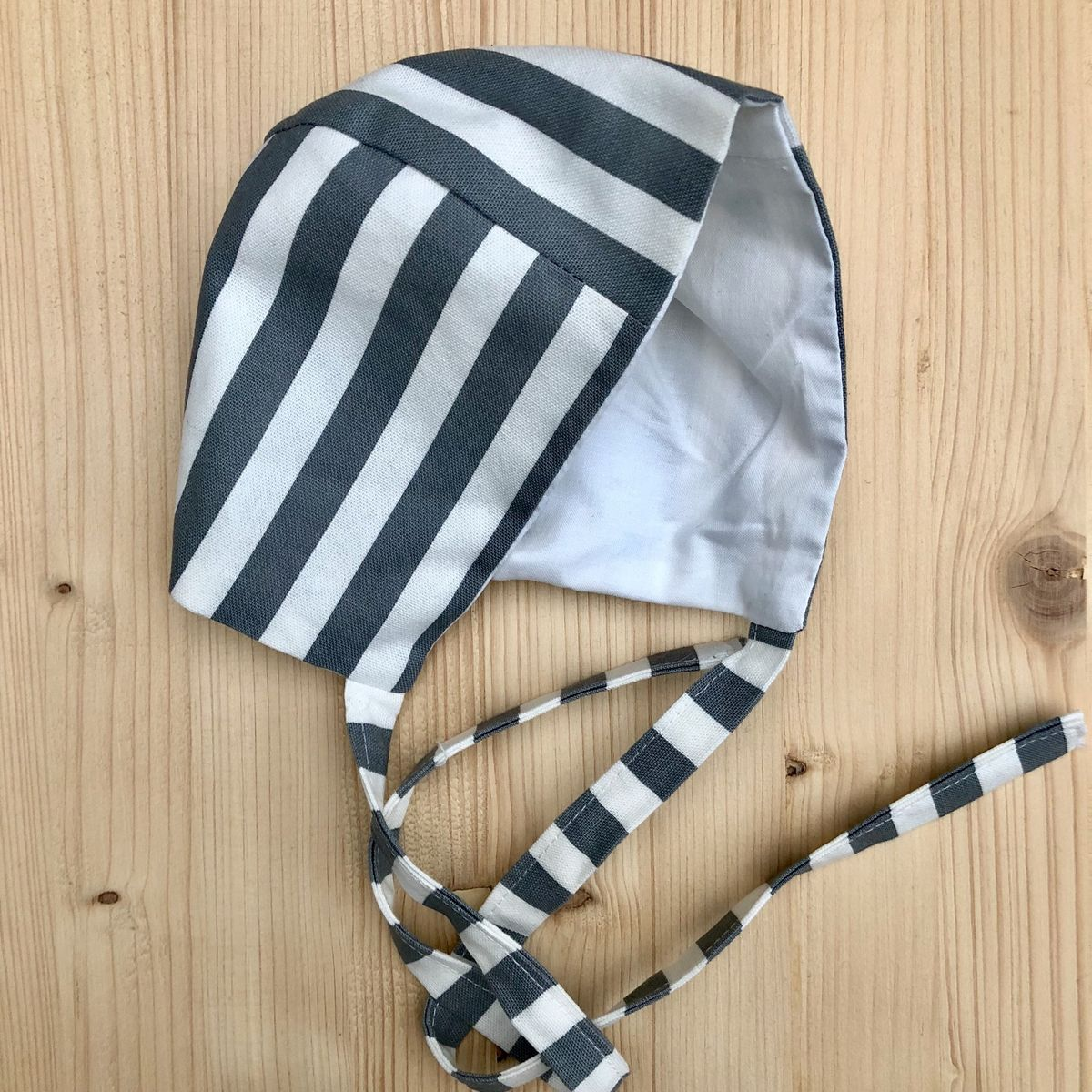 Baby, toddler bonnet - monochrome stripes - product images  of