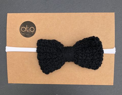 Bow,hairband,-,black,,black,and,off,white,stripe,Bow hairband, baby hairband, photo short, bow, cake smash, baby first birthday, toddler, toddler haitband