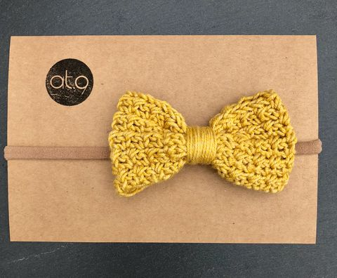 Bow,hairband,-,mustard,,mustard,and,off,white,stripe,Bow hairband, baby hairband, mustard, photo short, bow, cake smash, baby first birthday, toddler, toddler haitband