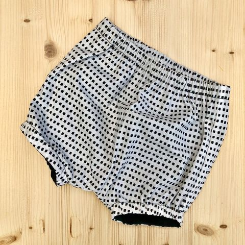 Bubble,leg,baby,,toddler,bloomers,-,monochrome,cubes,Bubble leg bloomers, bloomers, toddler bloomers, monochrome, gingham, trendy baby, vintage style baby
