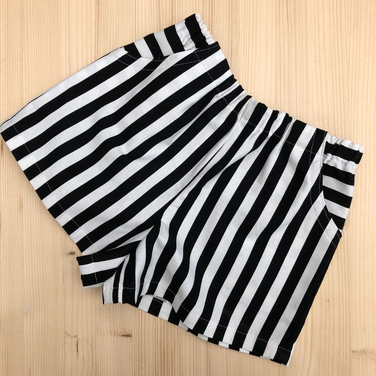 Baby shorts, toddler shorts - monochrome stripes - product images  of