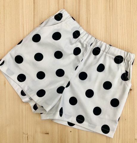 Baby,shorts,,toddler,shorts,-,monochrome,spots,Baby shorts, toddler shorts, summer shorts, monochrome, spots, summer baby outfit, nappy cover