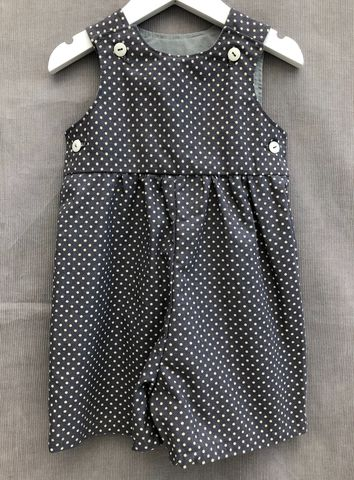 Baby,,toddler,shortalls,-,grey/cream,polka,dots,Grey, polka dots, shortalls, autumn fashion, winter fashion, romper suit, rompers, play suit, toddler fashion, baby fashion, trendy, corduroy, playsuit