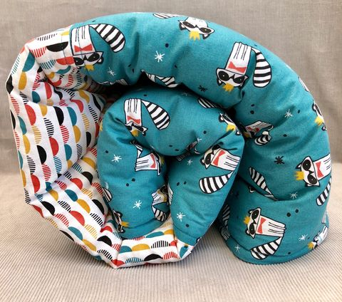 Contemporary,baby,,toddler,play,mat,,turquoise,,racoon,print,Play mat, monochrome, toddler, baby, nursery decor, racoon, baby shower gift, turquoise