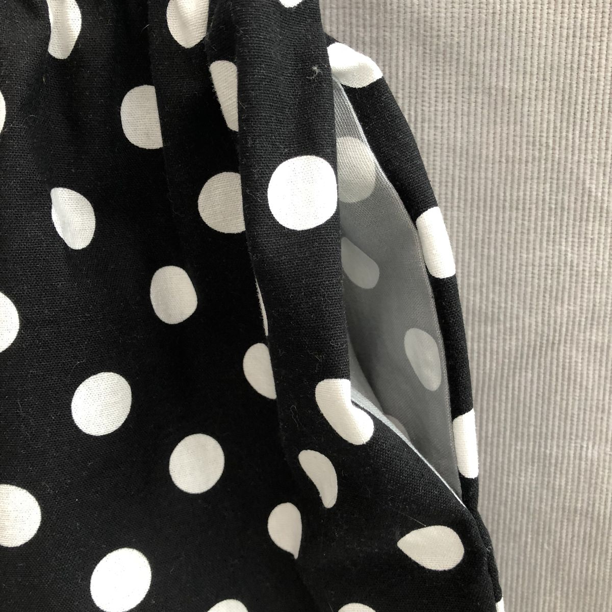 Toddler's cotton skirt, black, grey and white, elasticated waist - product images  of