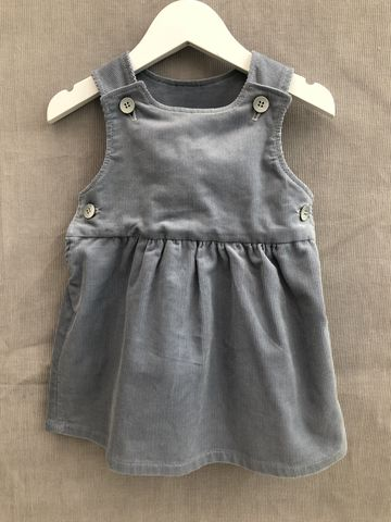 Pinafore,dress,,needlecord,,grey,blue