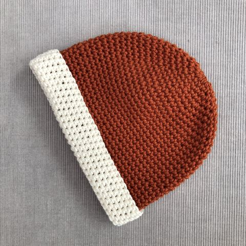 Baby,,toddler,beanie,hat,,copper,and,cream,baby beanie hat, gender neutral hat, toddler beanie hat, baby accessory, cream, mustard, cotton, merino wool