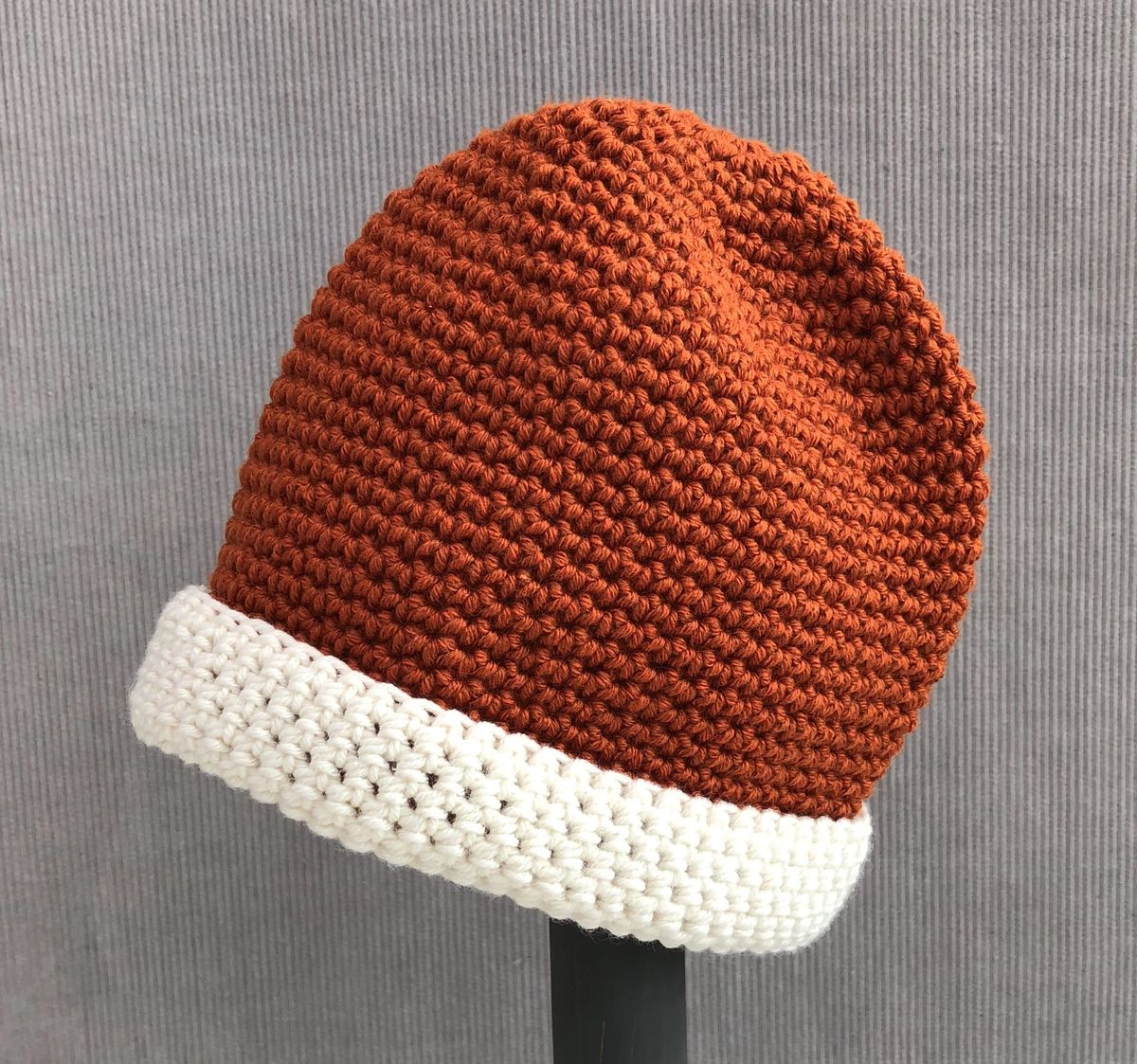 Baby, toddler beanie hat, copper and cream - product images  of