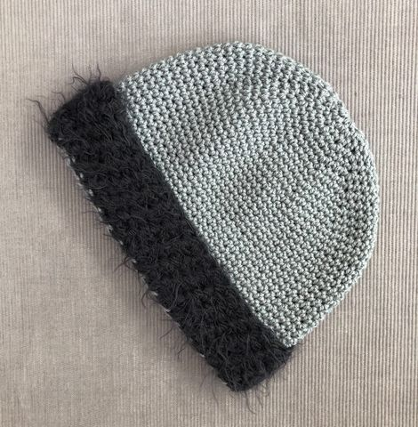 Black,baby/toddler,beanie,hat,with,grey,fur,effect,brim,Grey, Baby hat, toddler hat, beanie hat, grey fur brim, contemporary, modern, trendy, bowler hat, winter hat, girls hat, cotton hat, wool hat