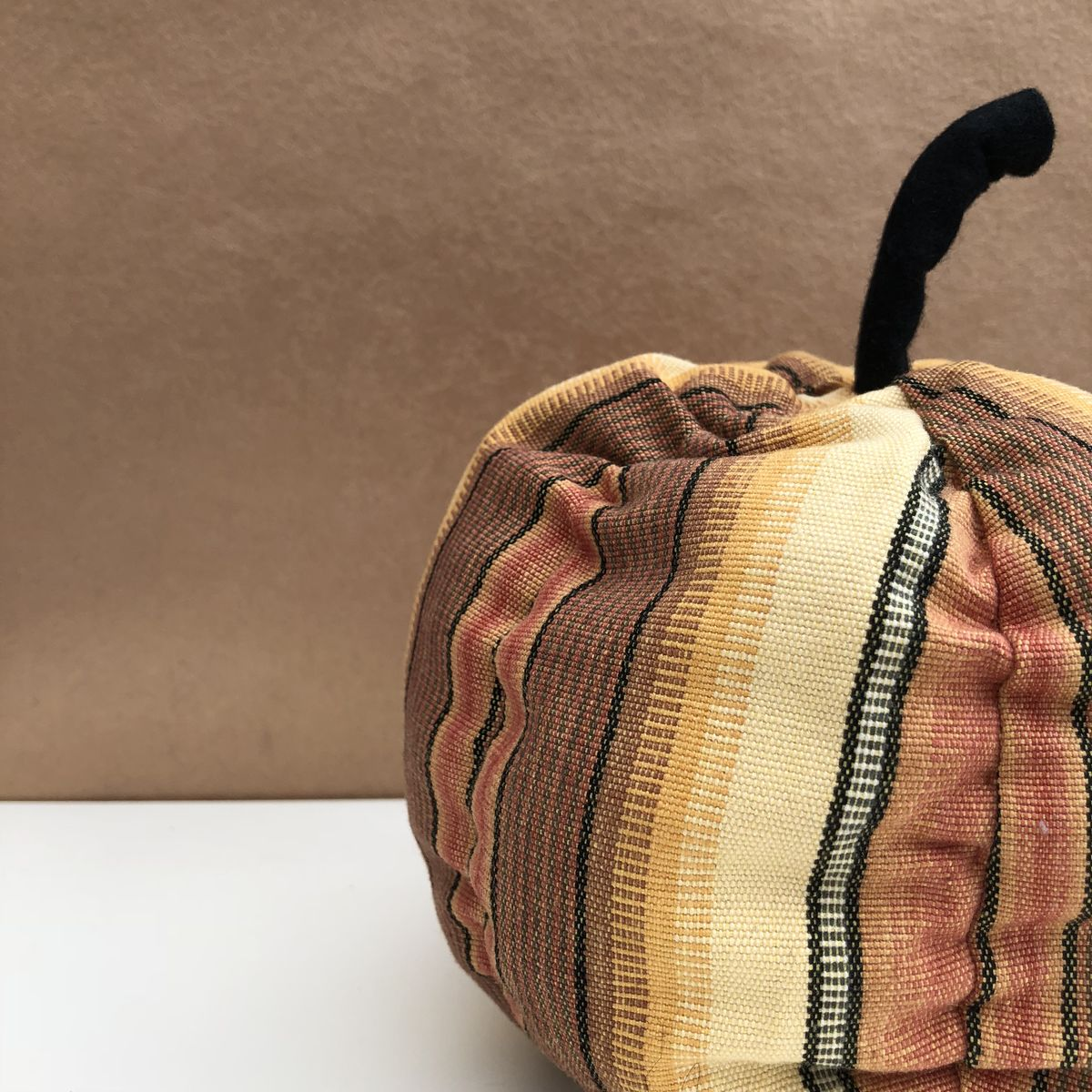 Decorative patterned pumpkin - autumn stripes - product images  of