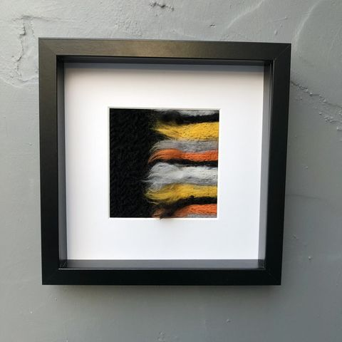 Stripes,-,monochrome,plus,Contemporary Painting, contemporary art, textile, fibre, flowers, autumn colours, monochrome, felt, contemporary, abstract, mustard, orange, copper
