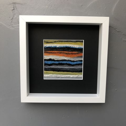 Abstract,colour,stripes,Contemporary Painting, stripes, landscape painting, contemporary art, textile art, monochrome, felt, contemporary, abstract, copper