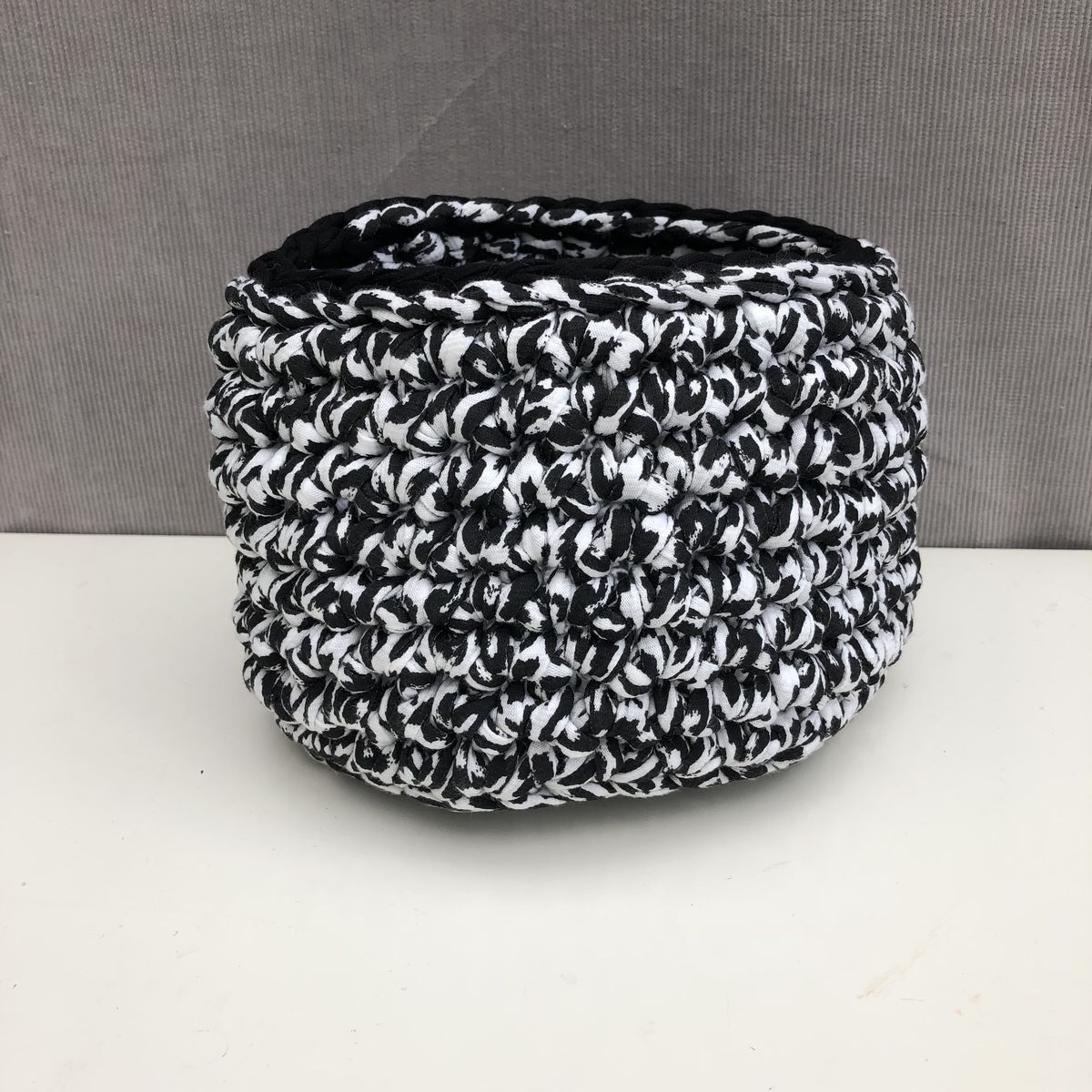 Black and white storage basket  - product images  of