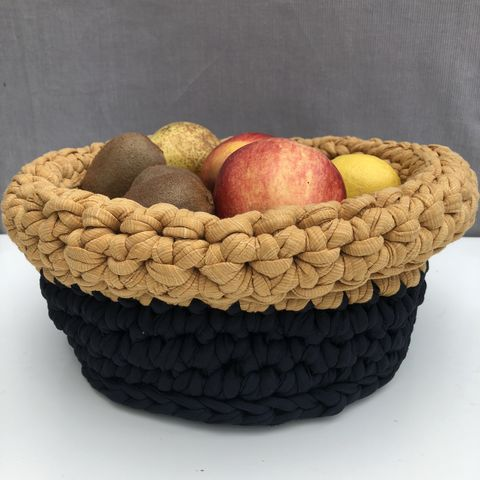 Black,and,mustard,storage,basket,Storage basket, black, mustard, plant pot holder, pot decor, pot cover, contemporary, interior decor, storage solution