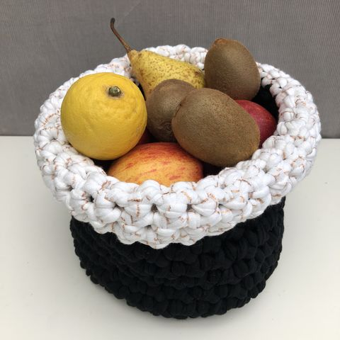 Storage,basket,-,rose,gold,top,storage basket, crochet, white, black, rose gold, textured, chunky, contemporary, gift