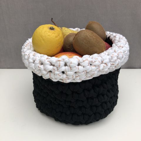 Storage,basket,-,metallic,rose,gold,storage basket, crochet, white, black, rose gold, textured, chunky, contemporary, gift, baby shower, storage solution, storage bag