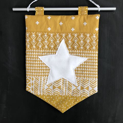 Decorative,banner,wall,hanging,-,mustard,Wall hanging, nursery decor, off white, star, Mustard, modern, contemporary, baby shower, party decor, wedding decor, wall art, abstract, on trend, trendy