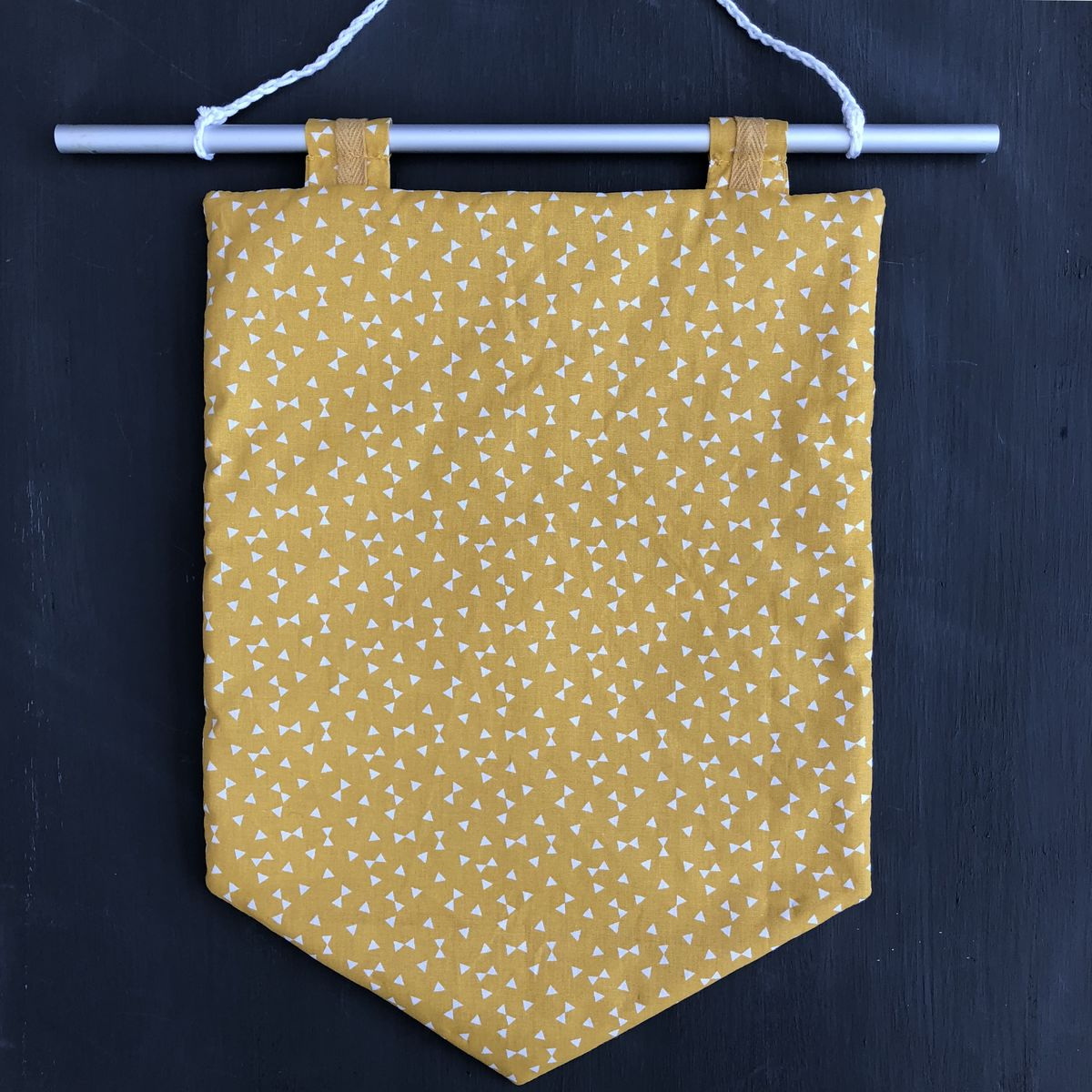 Decorative banner wall hanging - mustard - product images  of