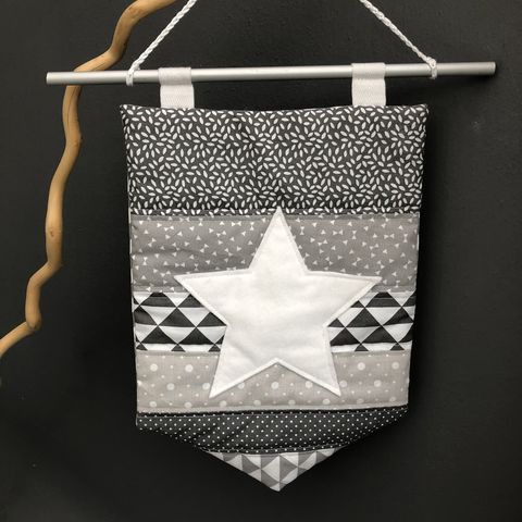 Decorative,banner,wall,hanging,-,grey,Wall hanging, nursery decor, off white, star, Grey, modern, contemporary, baby shower, party decor, wedding decor, wall art, abstract, on trend, trendy