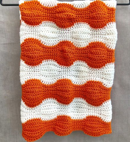 Contemporary,baby,blanket,,orange,and,white,Baby blanket, contemporary, orange, white, stripes, pram, stroller, cot blanket, cover, snuggle blanket, cosy, unique