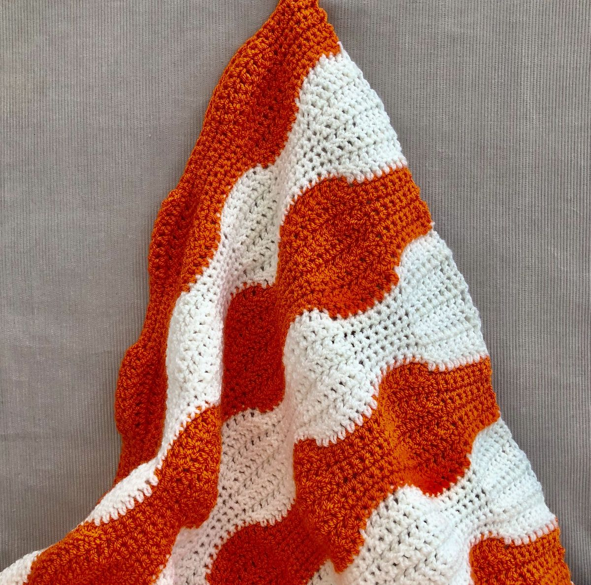 Contemporary baby blanket, orange and white - product images  of