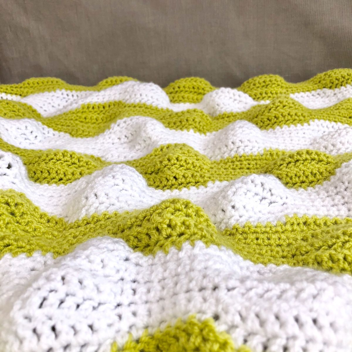 Contemporary baby blanket, green and white - product images  of