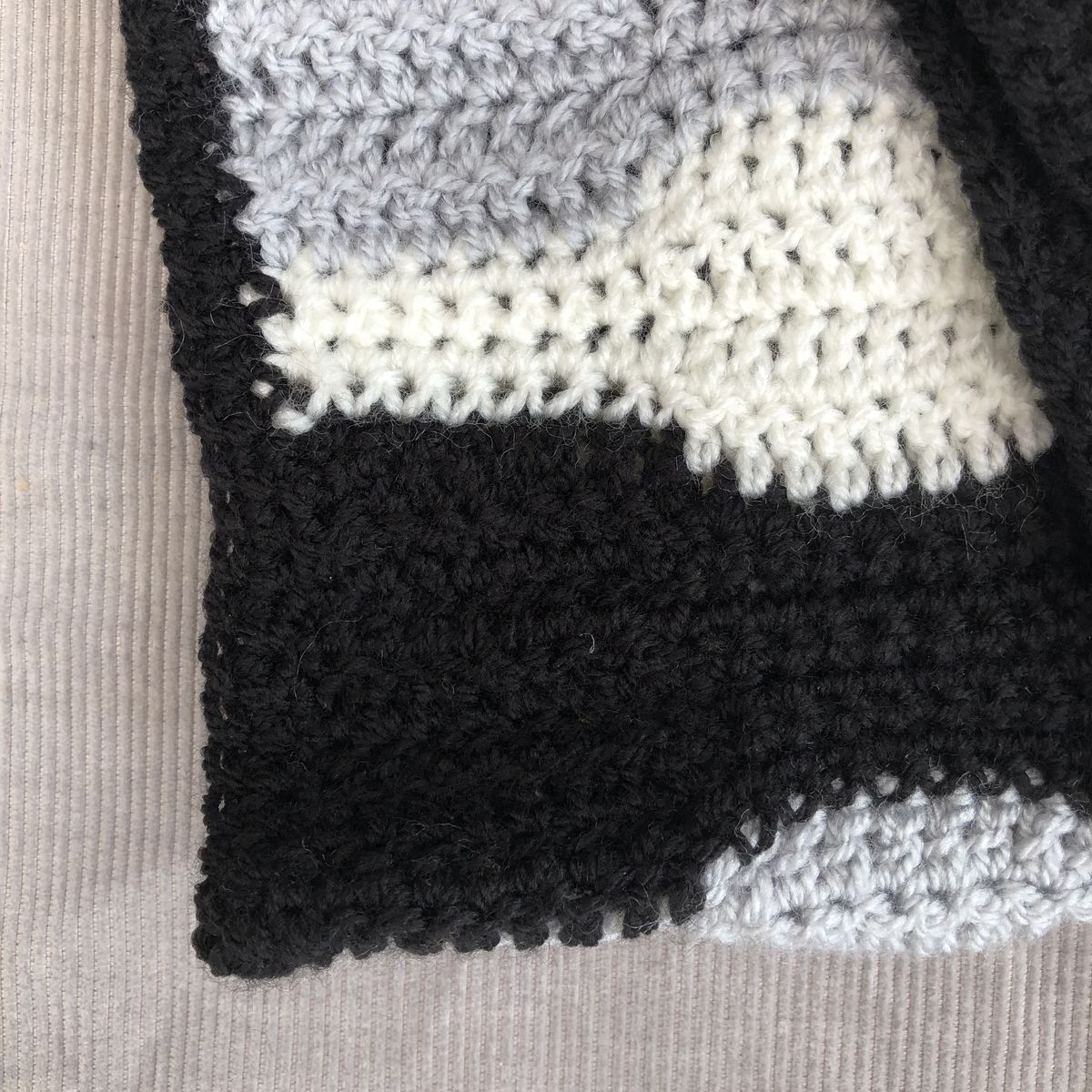 Contemporary baby blanket, monochrome and grey - product images  of