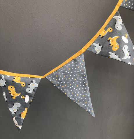 Dinosaur,print,bunting,garland,(mustard,grey,white), contemporary bunting, garland, monochrome, grey, black, white, mustard, nursery decor