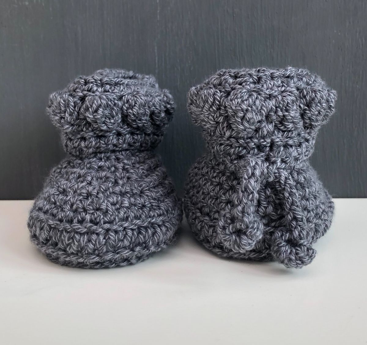 Baby booties/shoes (light,mid,dark grey) - product images  of