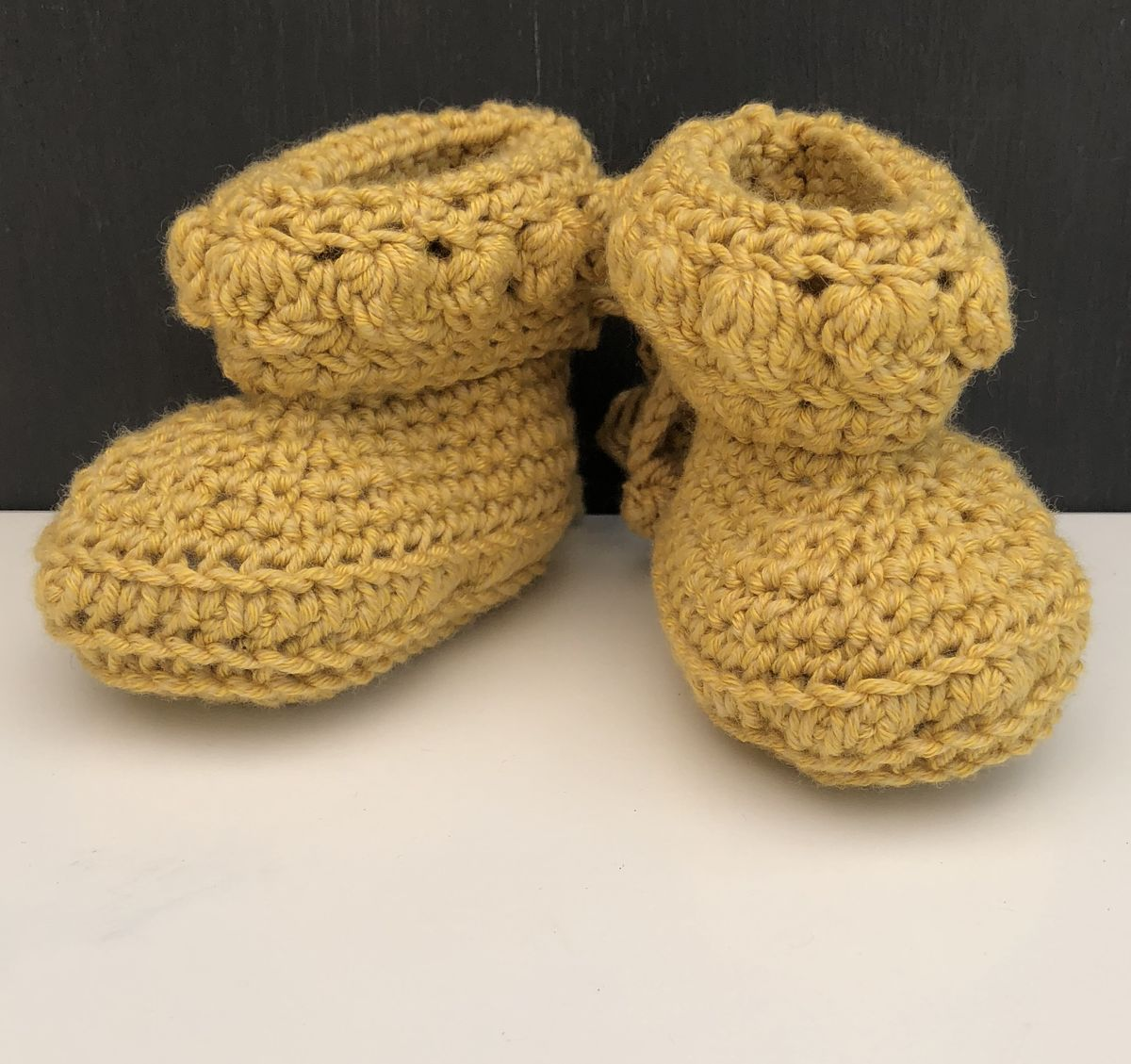 Baby booties/shoes (mustard) - product images  of