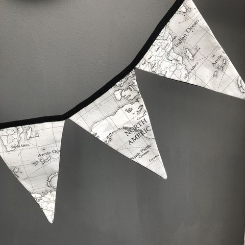 World,map,monochrome,bunting,garland,World map, atlas, party garland, contemporary bunting, garland, monochrome, nursery decor