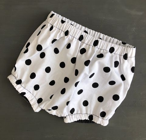 Bubble,leg,baby/toddler,bloomers,-,monochrome,spots,Monochrome bloomers, spotty, Bubble leg bloomers, bloomers, toddler bloomers, cotton, trendy baby, vintage style baby
