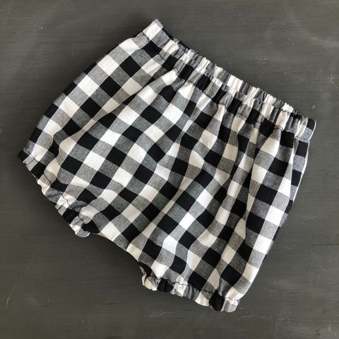 Bubble,leg,baby/toddler,bloomers,,nappy,cover,-,black,and,white,medium,gingham,Gingham, monochrome, bloomers, nappy cover, spotty, Bubble leg bloomers, toddler bloomers, cotton, trendy baby, vintage style baby