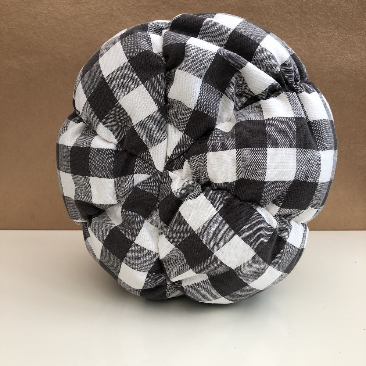 Gingham fabric pumpkin - dark grey/white - product images  of