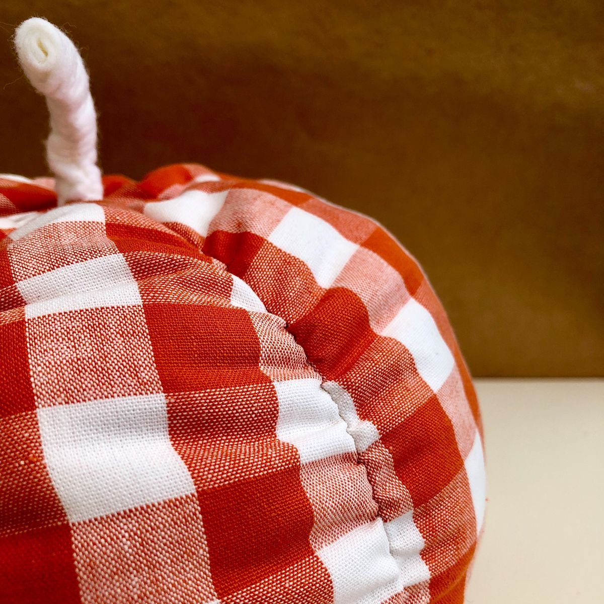 Gingham fabric pumpkin - orange/white - product images  of