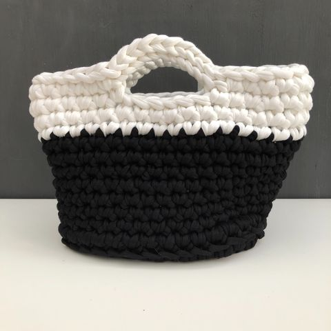 Chunky,stitched,monochrome,storage,basket,Storage basket, project bag, baby shower gift, eco, recycled, gift basket, contemporary storage, nursery storage, monochrome, chunky basket, home storage