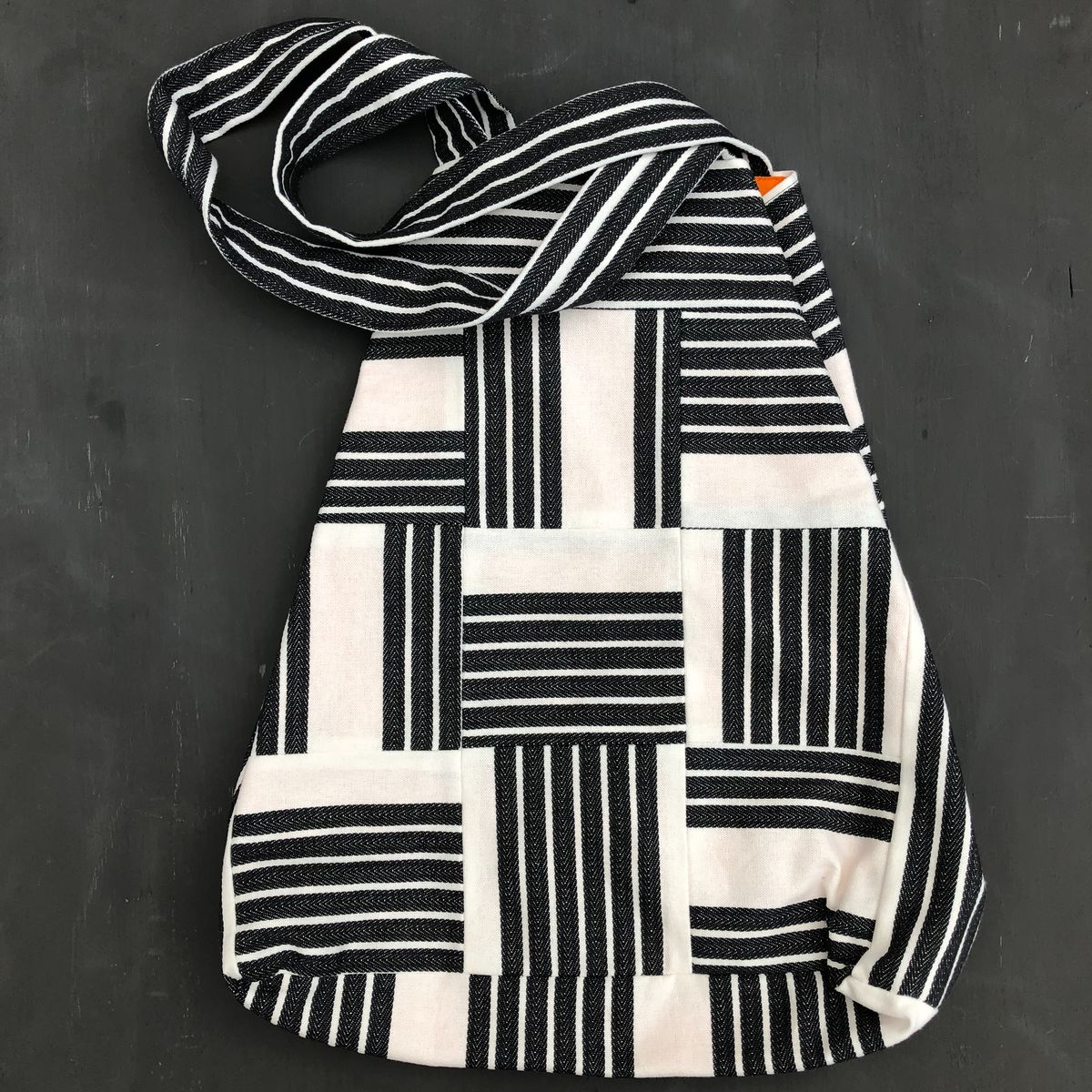 Monochrome striped tote shopping bag - product images  of