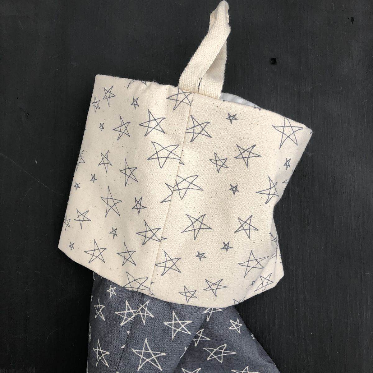 Christmas stocking - grey and cream - product images  of