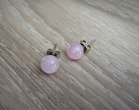 ROSE,QUARTZ,Simple,Stud,Earrings,/,Pink,Natural,Stone,Post,Ball,Semi,precious,under,5,dollars,Gift,Boxed,Jewelry,earrings,stone_studs,ball_earrings,surgical_steel,under_5_dollars,gift_for_her,gemstone_earrings,semi_precious,made_in_Canada,stone_earrings,pink_stone,rose_quartz,crystal_healing